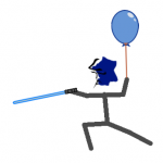 Mr La Tousche balloonswordblue