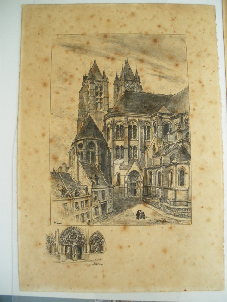 Cathedral of Noyon - Before